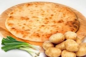 С картофелем и зеленым луком, 1000 гр. Осетинский пирог - фото 4937
