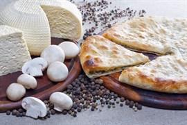 С грибами и сыром, 500 гр. Осетинский пирог