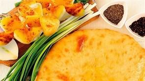 С картофелем и зеленым луком, 750 гр. Осетинский пирог