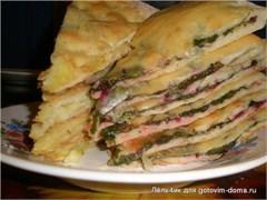 """Со свекольными листьями и сыром, 800 гр. Осетинский пирог """"Цахараджын"""""""