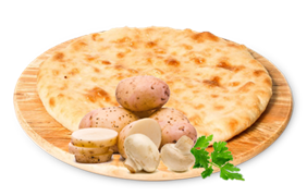 "С грибами и картофелем, 500 гр. Осетинский пирог ""Къозоджын"""