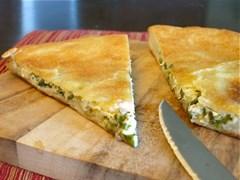 С сыром, картофелем, свежим укропом и зеленым луком 1000 гр. Осетинский пирог