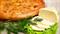С сыром, картофелем, свежим укропом и зеленым луком 1000 гр. Осетинский пирог - фото 5105